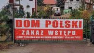 A sign outside a hostel near Wroclaw, Poland, says 'Entry forbidden to Jews, Commies and all thieves and traitors of Poland.' (Sebastian Karbowiak via the Anti-Defamation League)