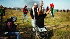 Wheelchair bound amputee Ibrahim Abu Thurayya,was killed by the IDF during a protest