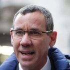 Mark Regev, Israel's Ambassador to the United Kingdom, during a joint exercise to test their response to a ÔHAZMATÕ type ncident involving a hazardous substance, at the Israeli Embassy in Kensington, London. PRESS ASSOCIATION Photo. Picture date: Sunday December 10, 2017. Emergency teams in bio suits descended on the Israeli embassy in a training exercise for a hazardous chemical incident. A cordon was put in place and decontamination tents were erected at the back of the building in central London, yards from Kensington Palace. See PA story POLICE Israeli. Photo credit should read: Yui Mok/PA Wire
