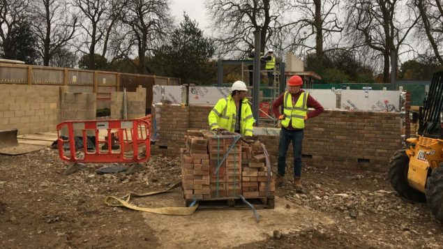 Builders at the site of the new JBD development