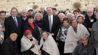 Kotel Group Shot - Holocaust Survivors - Greg Schneider and Abe Biderman