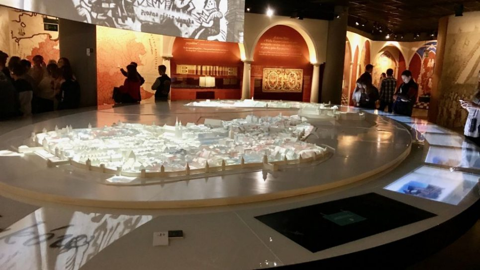 Scale model of Krakow and Kasmariz, Museum of Polish Jewish History, photo by Harry D. Wall