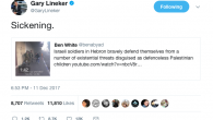 Gary Lineker's retweet of the controversial video showing IDF soldiers arresting a Palestinian