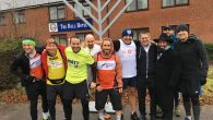 Six dads at Menorah half-marathon