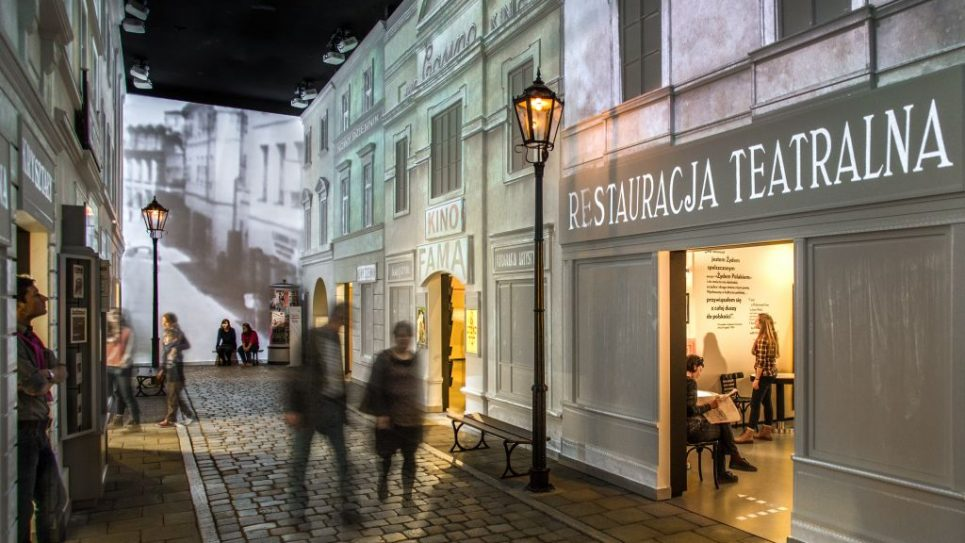 """""""The Jewish street"""" in the POLIN museum. Courtesy of Uliczka"""