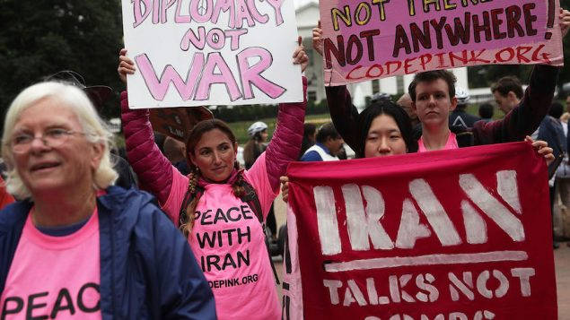 Protestors Rally At White House Against Decertification Of Iran Nuclear Deal