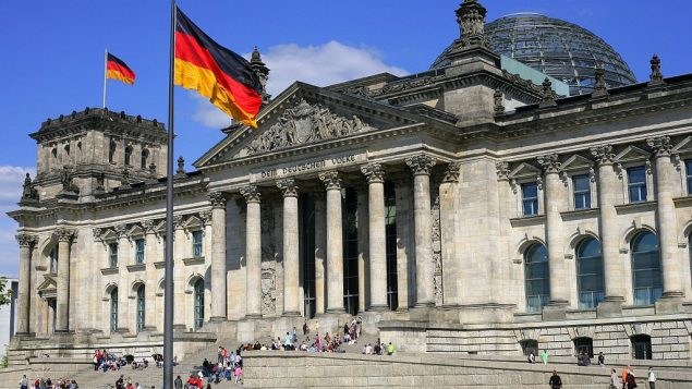 Reichstag building in Berlin, seat of the Bundestag