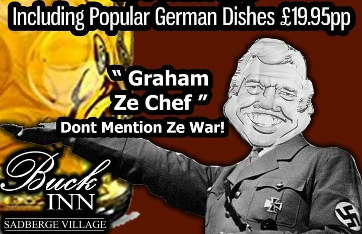 Pub's German food night adverts banned over Nazi imagery