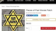 A website of a gun parts business near St. Louis offered a patch meant to suggest that gun owners, like Jews during the Holocaust, were being persecuted by the government. (Screenshot from Tacticalshit.com)