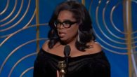 Oprah Winfrey giving her speech at the Golden Globes