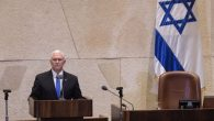 Mike Pence speaking in the Knesset