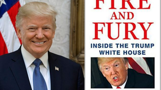 President Donald Trump(left) and Fire and Fury