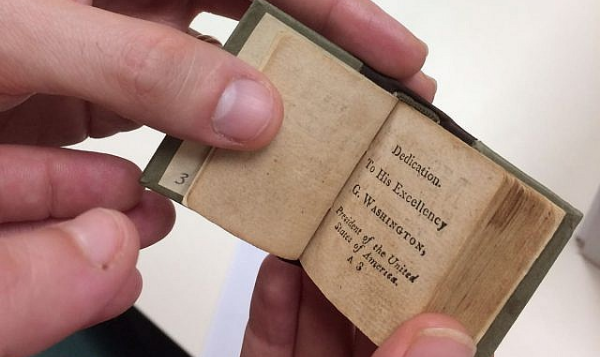 A miniature bible dedicated to George Washington, acquired by the National Library of Israel and published online on February 18, 2018