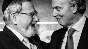 Former Chief Rabbi Lord Sacks and ex-Prime Minister Tony Blair