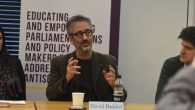 David Baddiel addressing the APPG event in parliament   Credit: Oli Sandler Photography