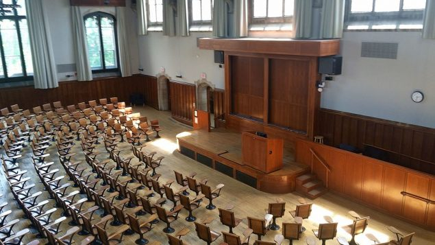 Lecture hall at Princeton University