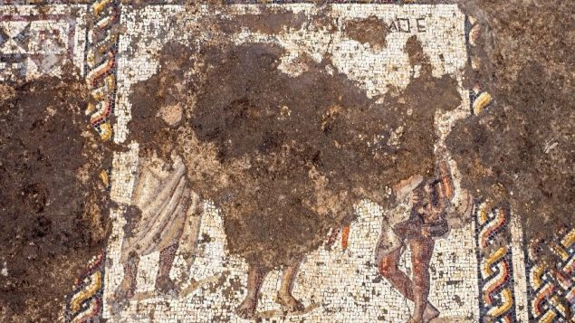 The 1,800-year-old Roman mosaic
