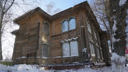 The Soldiers' Synagogue in Tomsk, Russia (Cnaan Liphshiz)