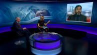 Jonathan Arkush on Newsnight during the discussion with Dr Antony Lempert. Emily Maitlis hosts the event