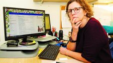Jewish Museum chief executive Abigail Morris views some of the thousands of 'scary' emails she and her staff have received