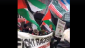 Screenshot from a video showing pro-Palestine demonstrators at the 'Stand Up To Racism March'