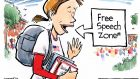 Free Speech cartoon by Jeff Koterba