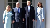 President And Mrs Trump Welcome Israeli PM Netanyahu To White House