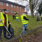 Manchester's Friendship Circle teaming with North Manchester Jamia Mosque and the Cheetham Churches Group to clear up the local neighbourhood 2