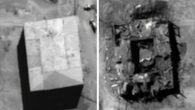 Before and after photo of the alleged nuclear reactor. Photo released by the U.S. government