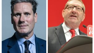Sir Keir Starmer and Len McCluskey