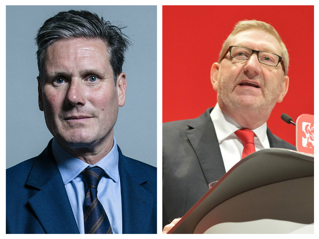 Keir Starmer hits back at McCluskey in Labour antisemitism row