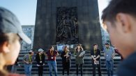 Participants of March of the Living UK at the Rapaport Memorial in Warsaw-Photo by Sam Churchill for MOTL UK