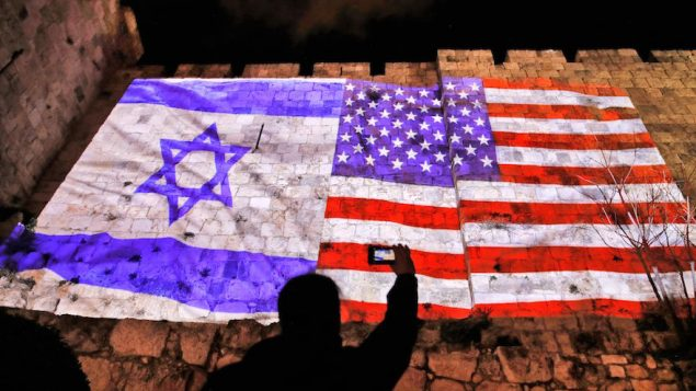 The U.S. and Israel flags