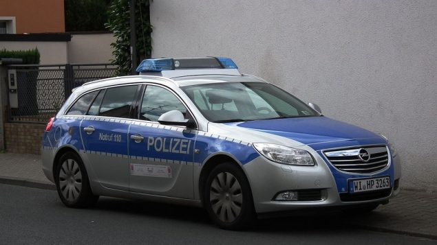 German police car