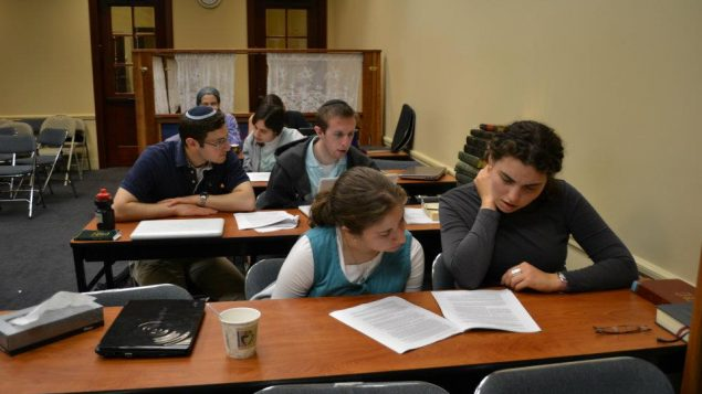Young men and women learning together at the Summer Beit Midrash in 2012 / courtesy of Rabbi Aryeh Klapper