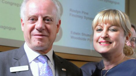 President-Elect Marie van der Zyl and outgoing leader Jonathan Arkush