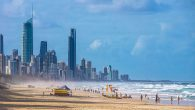 : Gold Coast beach and skyline, Queensland.