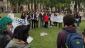 Young London Jews say Kaddish for Gaza in Parliament Square.   Credit: Israel Advocacy Movement video on Youtube