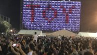 Tel Aviv celebrates Netta's win by lighting up the municipality building with Toy!