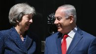 Prime Minister Theresa May greets Israeli Prime Minister Benjamin Netanyahu to 10 Downing Street, London, ahead of a bilateral meeting. PRESS ASSOCIATION Photo. Picture date: Wednesday June 6, 2018. Photo credit should read: Stefan Rousseau/PA Wire