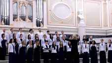 EVA Choir dressed in White Jackets, will sing with the Zemel choir