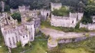 Grade I Listed Gwrych Castle in Abergele from the air