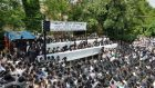 Around 7,000 Orthodox Jews gathered in London to show voice their concerns about the right to religious education