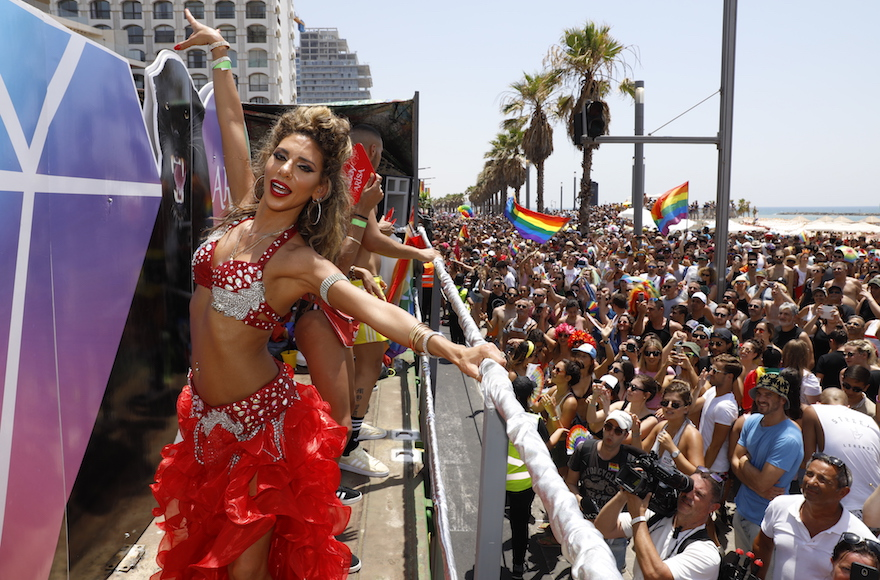 Attendance at the Pride Parade topped last year by some 50,000. JTA