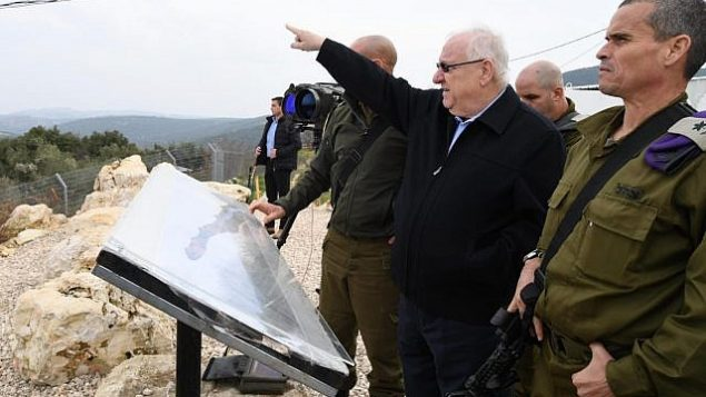 President-Rivlin-with-GOC-IDF-Northern-Command-at-northern-border-16-December-2018-640x400