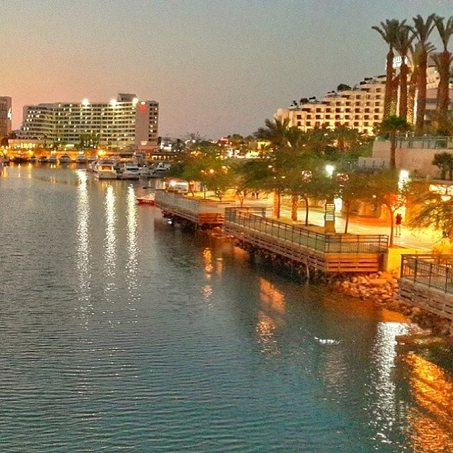 Eilat at night - photo by @shay_yeffet