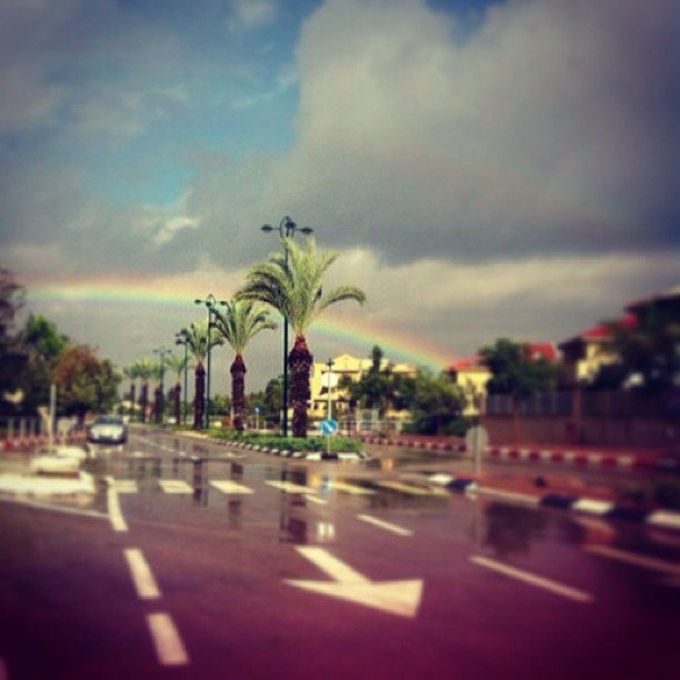 December 21, 2012 - #timesofisrael Photo of the Day: A #rainbow over Southern #israel