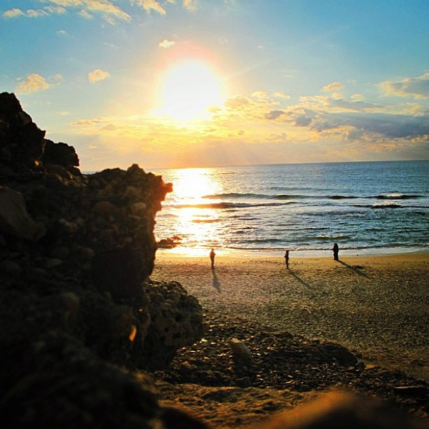 December 29, 2012 - #timesofisrael Photo of the Day: Sunset on Mediterranean. Photo by @irahok