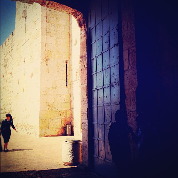 Shadow and light by Jaffa Gate