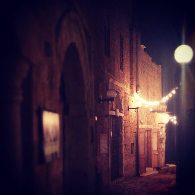 Twinkling lights of Jaffa